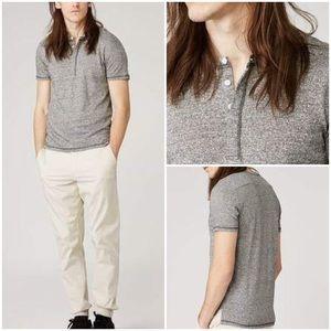 Frank & Oak Linen-Blend Heather Henley T-Shirt